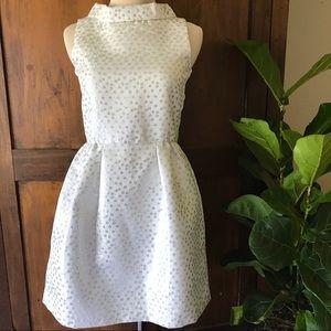 Crazy 8 Silver Polka Dot Party Holiday Dress NWT